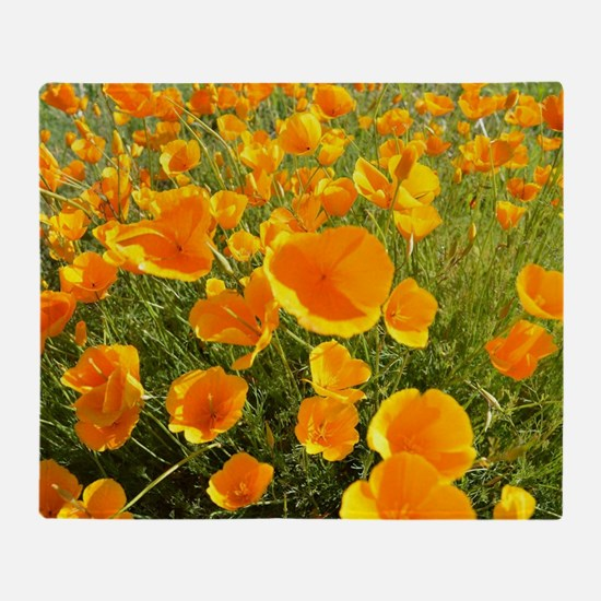 California Poppy's Throw Blanket