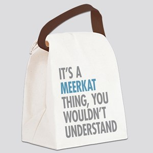 Meerkat Thing Canvas Lunch Bag