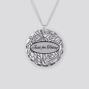 Just For Today Necklace Circle Charm