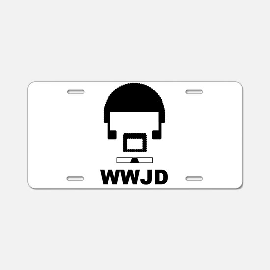 What Would Jules Do? (Dark) Aluminum License Plate