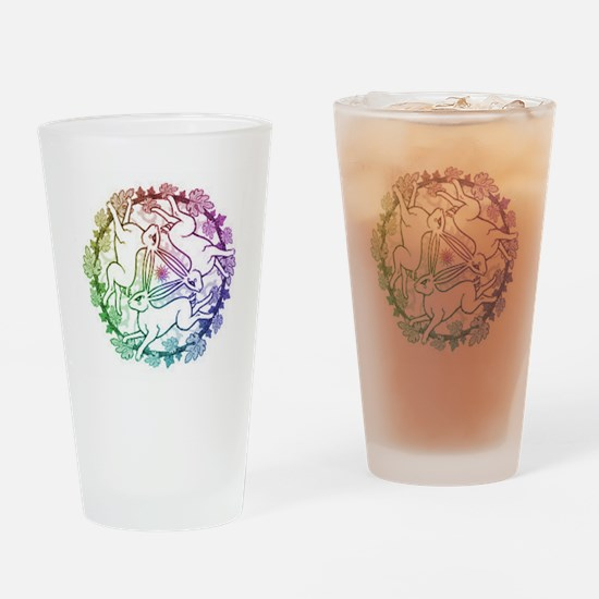 3 Hares Drinking Glass
