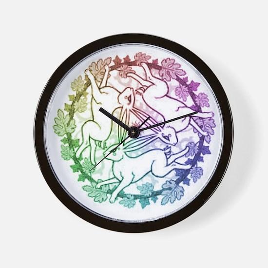 3 Hares Wall Clock