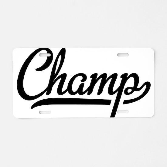 Cute Winning Aluminum License Plate