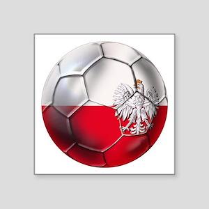 "Poland Football Square Sticker 3"" x 3"""