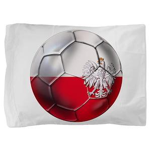 Poland Football Pillow Sham