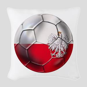 Poland Football Woven Throw Pillow
