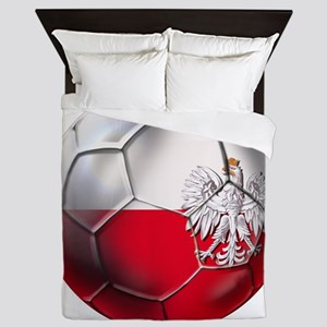 Poland Football Queen Duvet