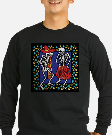 Day Of The Dead Dancers Long Sleeve T-Shirt