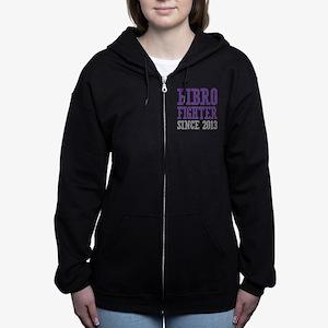 Fibro Fighter Since 2013 Women's Zip Hoodie