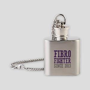 Fibro Fighter Since 2013 Flask Necklace
