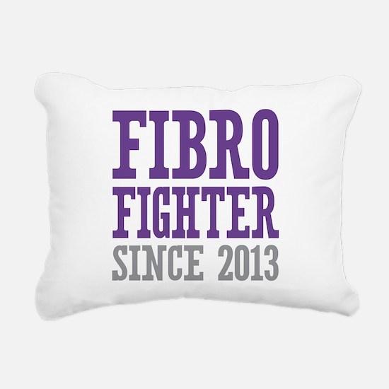 Fibro Fighter Since 2013 Rectangular Canvas Pillow