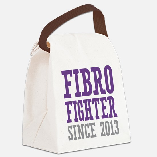 Fibro Fighter Since 2013 Canvas Lunch Bag