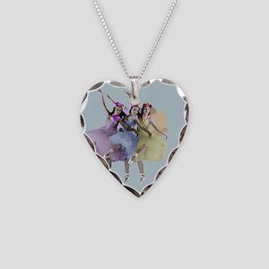 Fairies Dancing Necklace Heart Charm