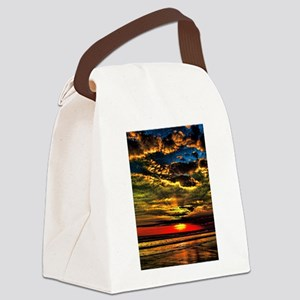 painted bali evening sky 1 Canvas Lunch Bag