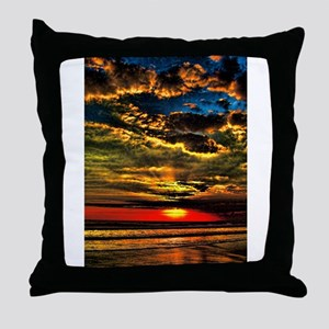 painted bali evening sky 1 Throw Pillow