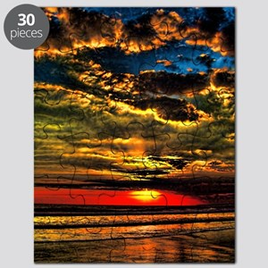 painted bali evening sky 1 Puzzle