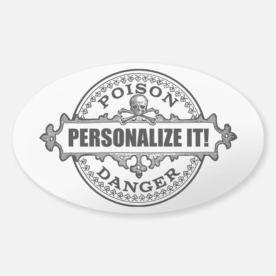 personalized poison Sticker (Oval)