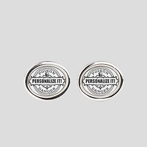 personalized poison Oval Cufflinks