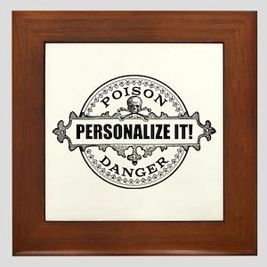 personalized poison Framed Tile