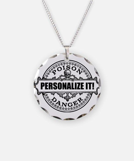 personalized poison Necklace Circle Charm