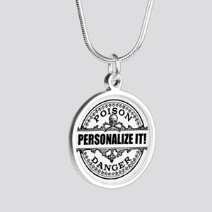 personalized poison Silver Round Necklace