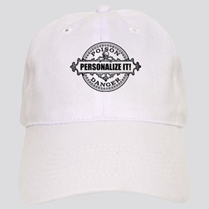 PERSONALIZED Poison Label Baseball Cap