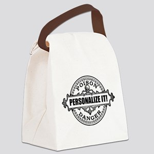 PERSONALIZED Poison Label Canvas Lunch Bag