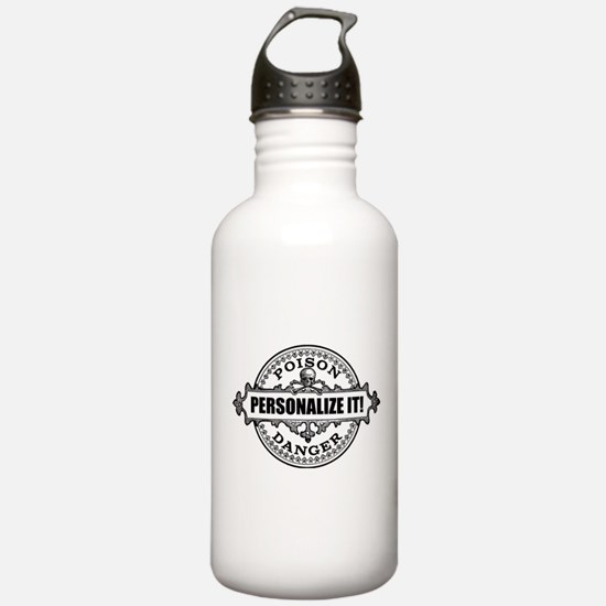 PERSONALIZED Poison Label Water Bottle