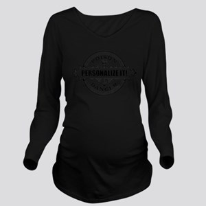 PERSONALIZED Poison Label Long Sleeve Maternity T-