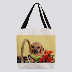 Valentina the Puggle Puppy in a Polyester Tote Bag