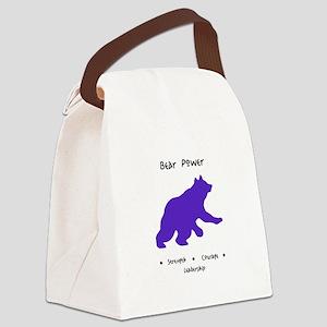 Purple Bear Medicine Gifts Canvas Lunch Bag