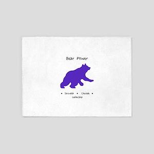 Purple Bear Medicine Gifts 5'x7'Area Rug