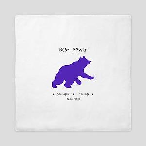 Purple Bear Medicine Gifts Queen Duvet