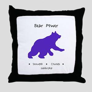 Purple Bear Medicine Gifts Throw Pillow