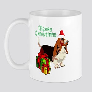 Merry Christmas Basset Hound 22 Mugs