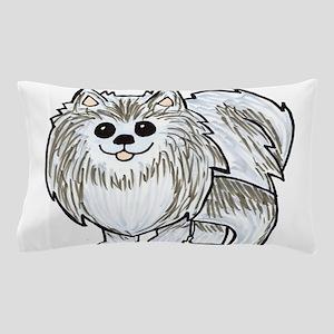 Silver Wolf Pomeranian Pillow Case