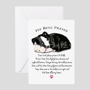 Pit Bull Prayer Greeting Cards