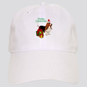 Merry Christmas Basset Hound 22 Baseball Cap