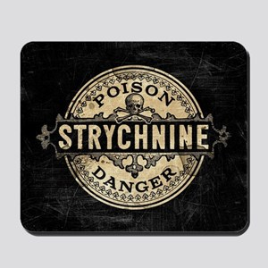 Halloween Poison Label Strychnine Mousepad
