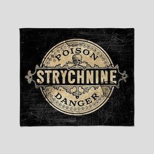 Halloween Poison Label Strychnine Throw Blanket