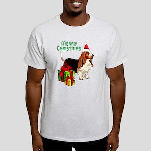 Merry Christmas Basset Hound 22 T-Shirt