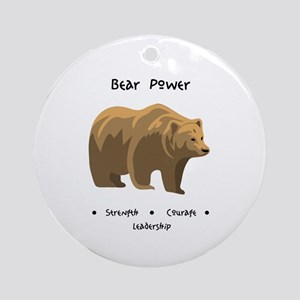 Bear Totem Power Round Ornament