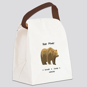Bear Totem Power Canvas Lunch Bag