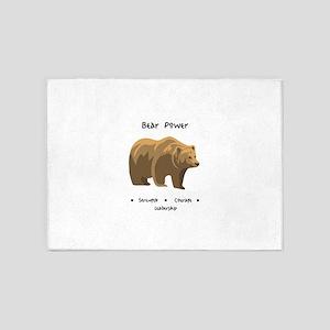 Bear Totem Power 5'x7'Area Rug