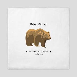 Bear Totem Power Queen Duvet