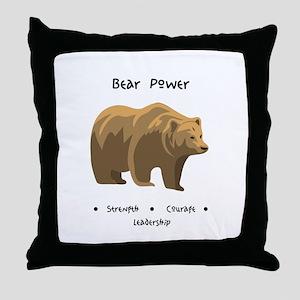 Bear Totem Power Throw Pillow