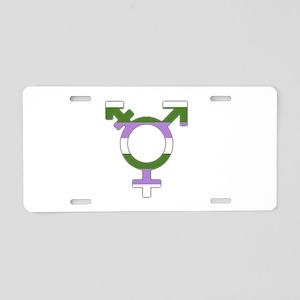 Transgender Symbol Gender Queer Flag Aluminum Lice
