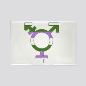 Transgender Symbol Gender Queer Flag Magnets