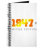 Limited Edition 1947 Birthday Journal