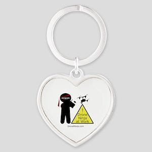 Drone Ninja at Work! Heart Keychain